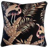 Glamour Paradise Black Bellagio Bird Outdoor Cushion