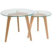 Global Gatherings 2 Piece Oslo Nesting Tables Set