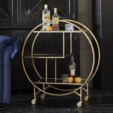 Global Gatherings Mirror Shelf Drinks Trolley