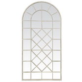 Global Gatherings Zaire Iron Arched Window Mirror