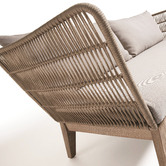 Linea Furniture Beige Wallace 3 Seater Outdoor Sofa