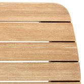 Linea Furniture Light Timber Serina Rectangular Eucalyptus Wood Outdoor Dining Table