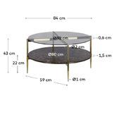 Linea Furniture Camilla Glass-Top Coffee Table