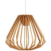 Observatory Lighting Replica Liora Wood Pendant Light
