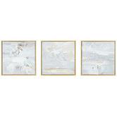 Hub Living Render Framed Canvas Wall Art Triptych