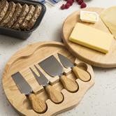 Sherwood Housewares 4 Piece Small Cheese Knife & Board Set