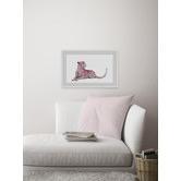 Marmont HIll Pink Cheetah Framed Printed Wall Art