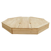 Lifespan Kids Action Bounce Octagonal Wooden Sandpit with Cover