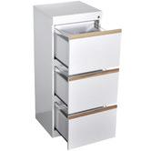 Citron Life White Cala 3 Drawer Filing Cabinet