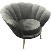 Brooklyn and Bella Manhattan Shell Velvet Armchair