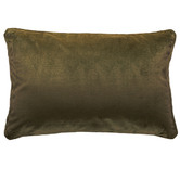 Brooklyn and Bella Hermann Piped Rectangular Velvet Cushion
