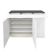 Rowland & Archibald Gloss White Dawson 3 Door Shoe Cabinet