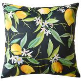Bianca Black Lemons Velvet Cushion