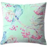 Bianca Parakeets Velvet Cushion