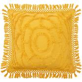 Bianca Mustard Santorini Cotton Chenille Cushion