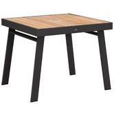 Indosoul St. Lucia Aluminium & Teak Outdoor Dining Table with Umbrella Hole
