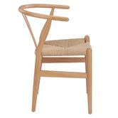 Milan Direct Natural Hans Wegner Replica Wishbone Chairs