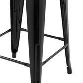 Milan Direct Tolix Replica 65cm Bar Stools with Timber Seat