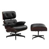 Milan Direct Eames Replica Leather Lounge Chair & Ottoman