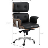 Milan Direct Eames Premium Replica Leather Executive Office Chair