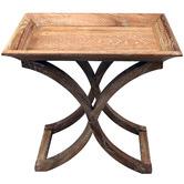 Naturally Provinicial Elliott Oak Side Table