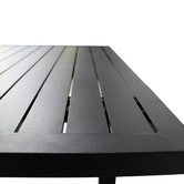 Naturally Provinicial Black Randgris Outdoor Aluminium Coffee Table