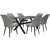 Naturally Provinicial 1.5cm Grey Atlas Aluminium Outdoor Dining Table