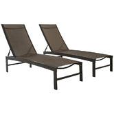Naturally Provinicial Casella Aluminium & Textilene Adjustable Sun Lounges