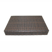 Naturally Provinicial Rossi Rattan Foldable Outdoor Side Table