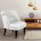Naturally Provinicial Hylas Button Tufted Armchairs