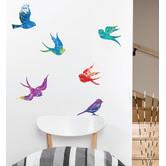 Little Sticker Boy Zen Birds Wall Decal