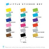 Little Sticker Boy Large Polka Dots Wall Decal