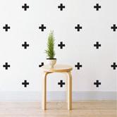 Little Sticker Boy Mini Crosses Wall Decal