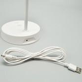 Luminea White LED Metal Desk Lamp