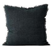 Aura By Tracie Ellis Vintage-Wash Fringed Linen Cushion