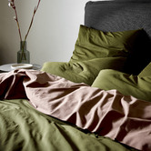 Aura By Tracie Ellis Green Halo Organic Cotton Quilt Cover