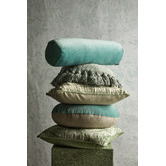 Aura By Tracie Ellis Luxury Velvet Bolster Cushion