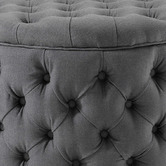 Hyde Park Home Large Charcoal Jessica Storage Ottoman