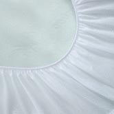Dreamaker Bamboo-Blend Knitted Waterproof Cot Mattress Protector