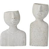 The Home Collective 2 Piece Emilie & Emile Cement Decor Set