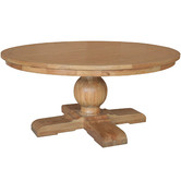 S & G Furniture Leyna Round Dining Table Natural Oak