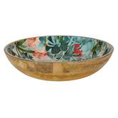Sanctuary Studio Wildflower 30cm Mango Wood Serving Bowl