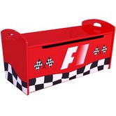 VIC Furniture Racer Gas Lift Toy Box