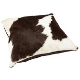 All Natural Hides and Sheepskins Black & White Cow Hide Cushion