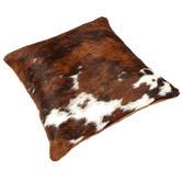 All Natural Hides and Sheepskins Tri-Colour Cow Hide Cushion