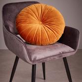 Bedding House Mandarin Round Velvet Cushion
