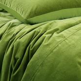 Vintage Design Mossy Road Cotton Velvet Quilt Cover Set