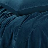 Vintage Design Riverland Blue Cotton Velvet Quilt Cover Set