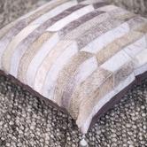 Art Hide Grey Olio Leather Cushion Cover