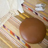 Amigos de Hoy Round Leather Floor Cushion